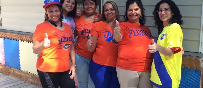 Staff at Wear Favorite Team Day